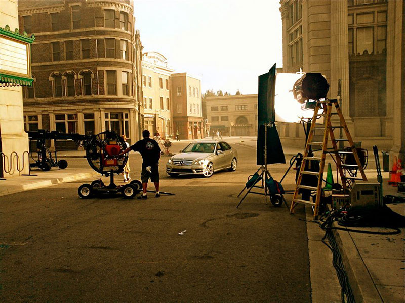 Photo of a Commercial Shoot featuring a car