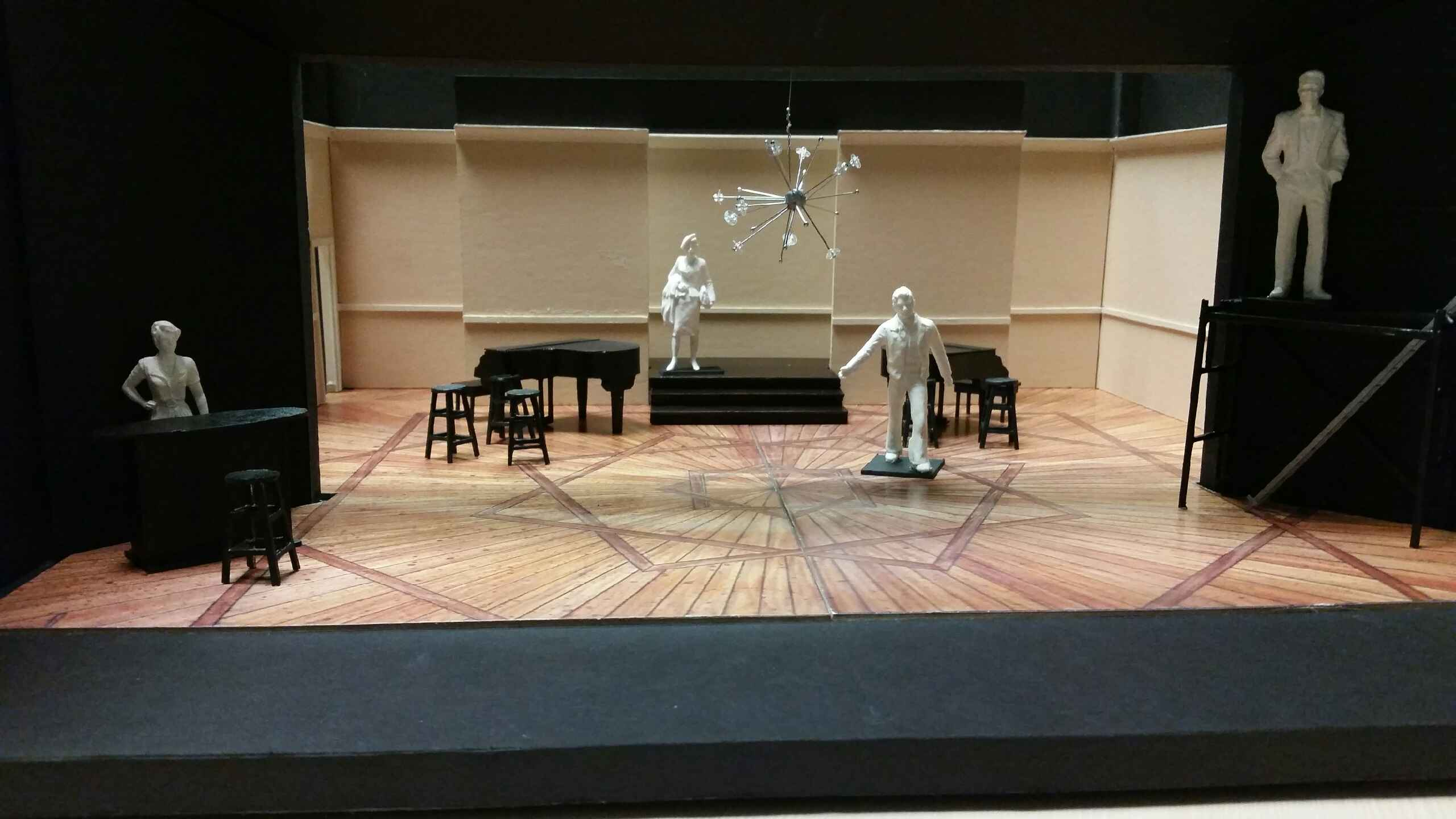 The scenic model made for Merrily We Roll Along
