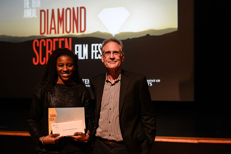 Diamond Screen Film Festival Winner with Professor Jeffrey Rush