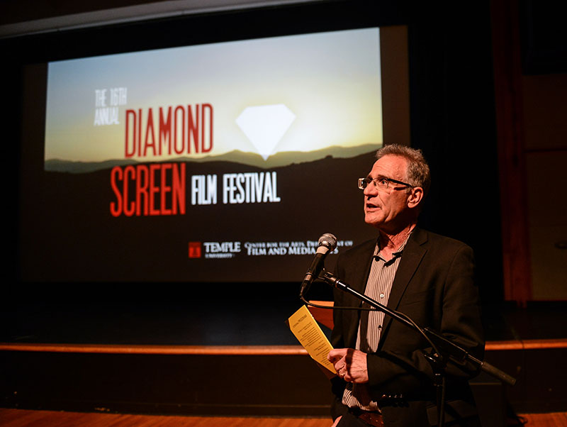 Professor Jeff Rush at the 2014 Diamond Screen Film Festival