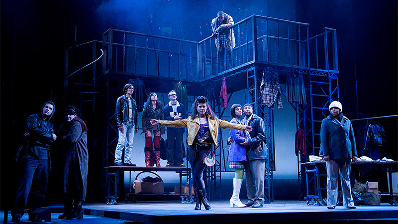 "Theater production of the musical ""Rent."""