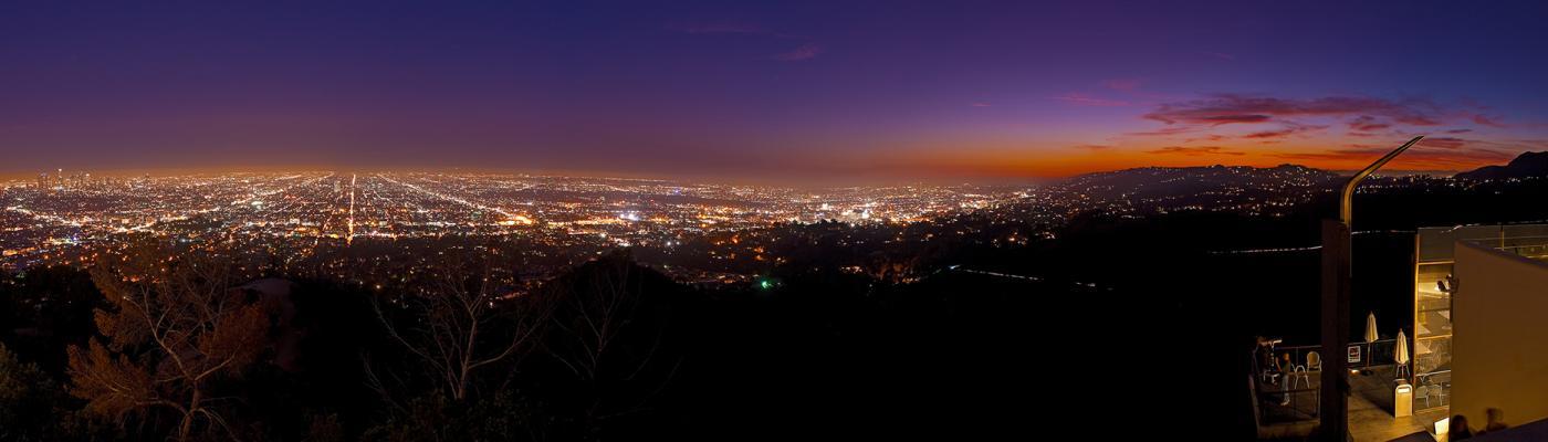 View of LA at night