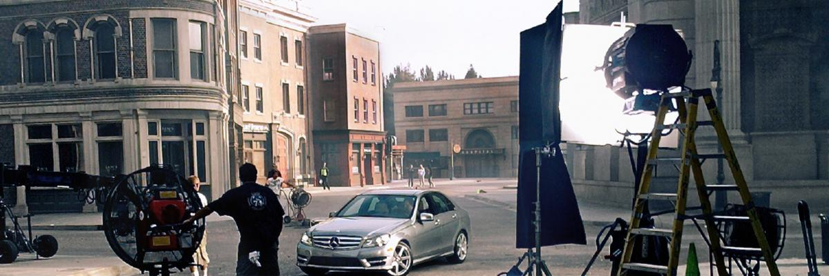 Car on set for shoot