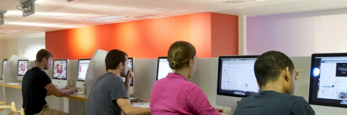 Students at work in Computer Lab