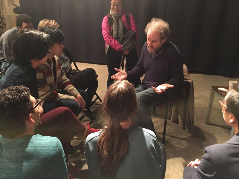 Mike Figgis with Students