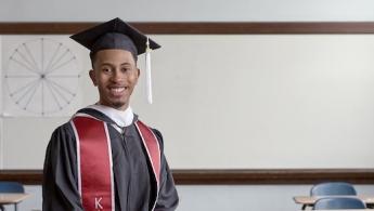 Kalen Allen in cap and gown