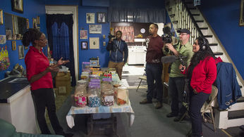 Kuetemeyer and team filming in Penny Candy Store
