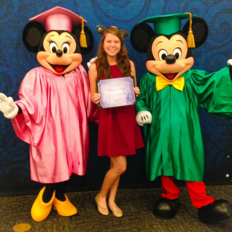 Ali Caiazzo in the Disney College Program