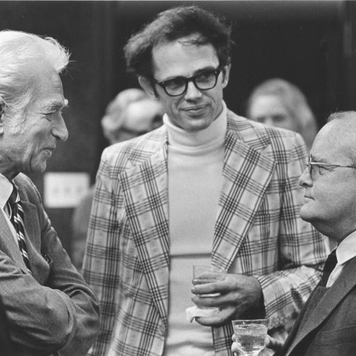 David Hale with Truman Capote, 1973