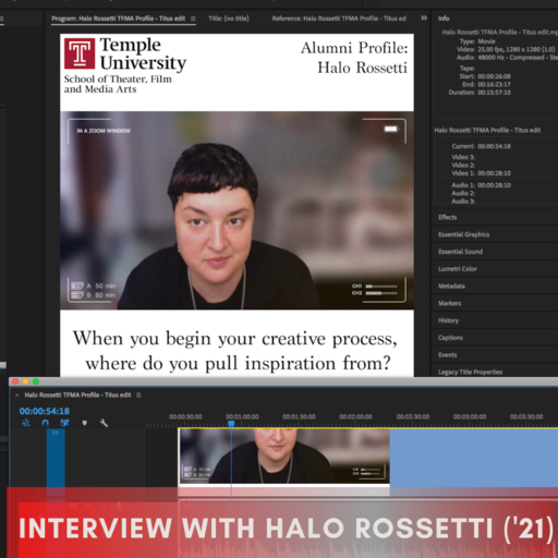 Featured Image for Interview with alum Filmmaker Halo Rossetti ('21)