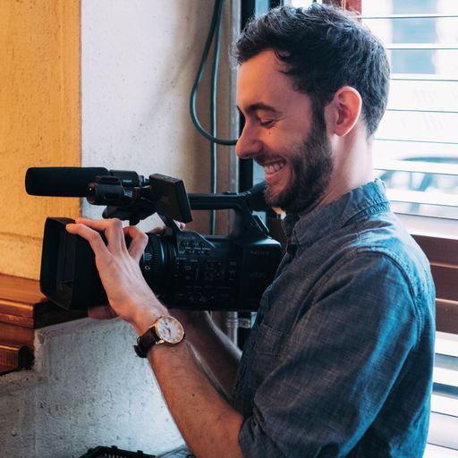 Jake Rasmussen with camera