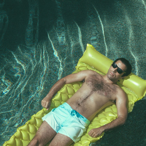 Namour Still of Man Floating in Pool