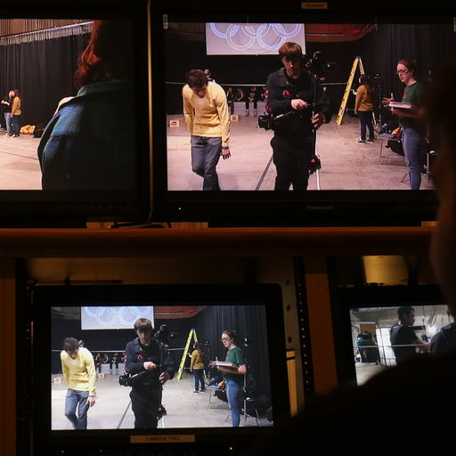 Students on screens