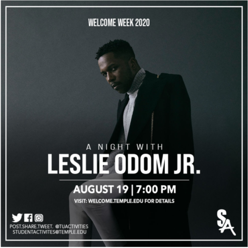 Featured Image for Welcome Week Speaker: A Night with Leslie Odom, Jr!