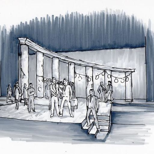 Sketch of Apollo Weaver's design for THE TWO GENTLEMEN OF VERONA