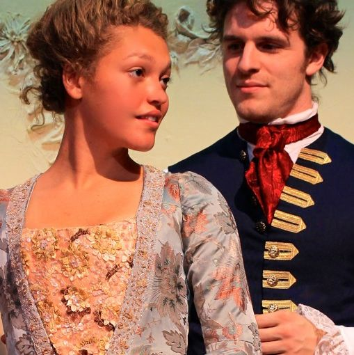 Julia Hopkins & Ken Sandberg in SHE STOOPS TO CONQUER