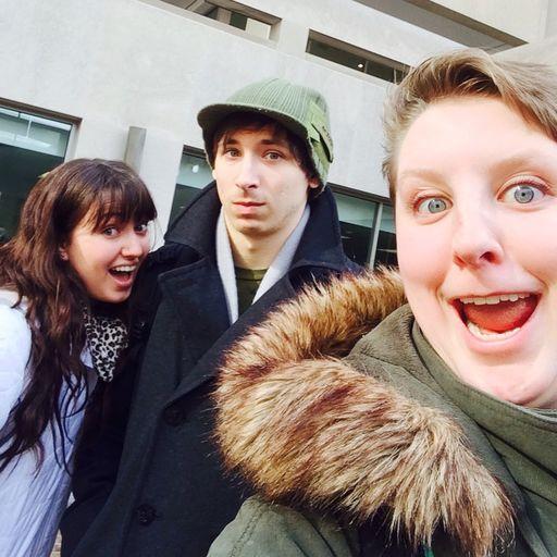 Selfie of Sam with friends Lauren and Matt
