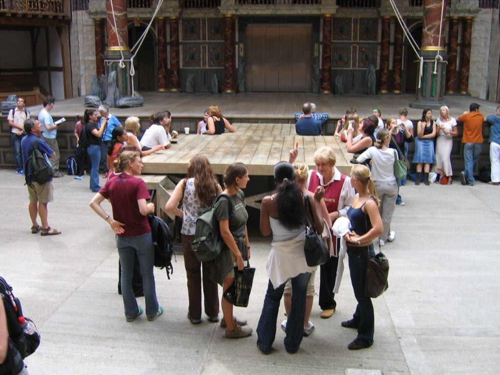 Students at the Globe Theatre