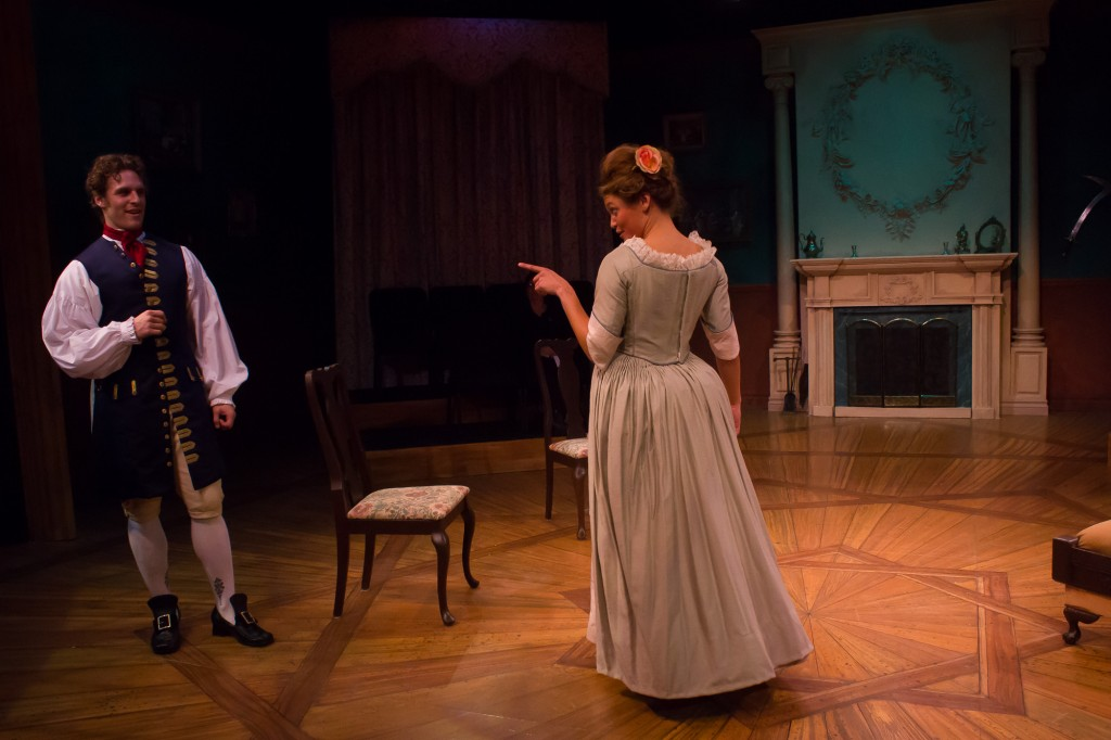 Ken Sandberg & Julia Hopkins in a scene from She Stoops to Conquer